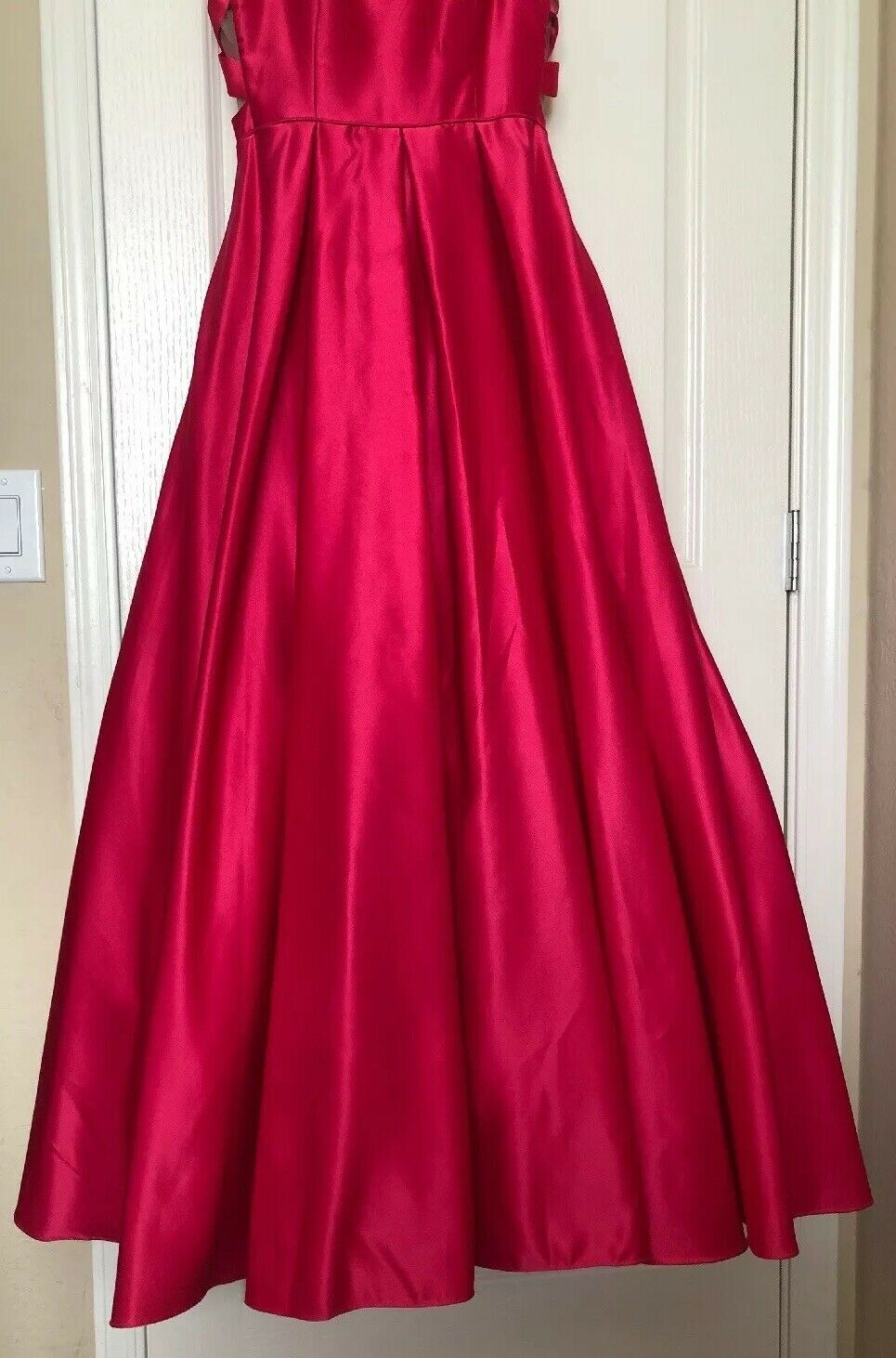 Dillards Pink Long Ball Gown Prom Dress Strapless Blondie Nites Nites Nites By Stacy Sklar 9 18a043