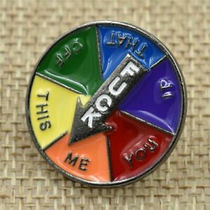 Spinning-Decision-Enamel-Pin-Hard-Badges-Brooches-Accessories-Funny-pins-Jewelry