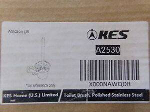 KES A2530 Bathroom Toilet Brush Set Wall Mount POLISHED STAINLESS STEEL - NEW
