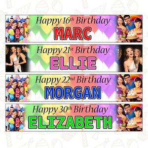 2 x Alphablocks Personalised Birthday Banners