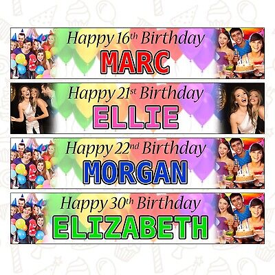 2 PERSONALISED PHOTO BANNERS 51