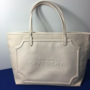 8bfee3911e0 Givenchy Parfums Large faux Leather Canvas Tote Gift Shopping Travel ...