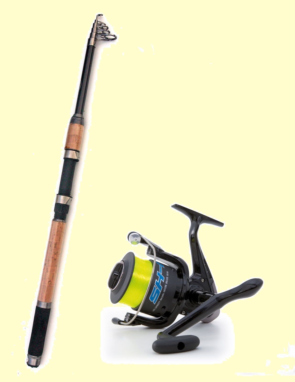Lineaeffe Carbon Telescopic Travel  Pike Fishing Rod & Shizuka 1 Reel with Line