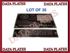 30x-Brand-New-High-Quality-Morris-Engine-Instruction-Data-Plate