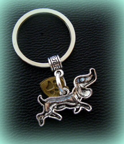 DACHSHUND Doxie DOG KEYCHAIN Jewelry Weiner Sausage Puppy Pup LOVE my DOG