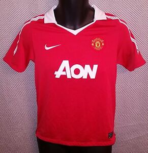 huge discount ec95f bde34 Image is loading Manchester-United-FC-Red-Nike-Dri-Fit-Home-
