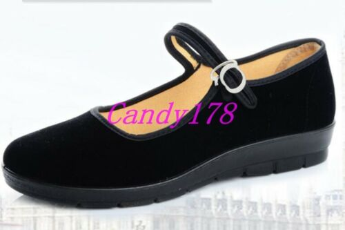 Chic Femme Bout Rond danse Travail Cheville Sangle Chaussures Casual souples MOTHERS /'Chaussures