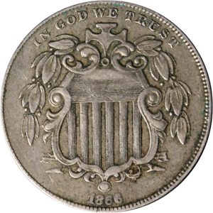 1866 Shield Nickel - RAYS Great Deals From The Executive Coin Company
