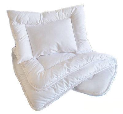 JUNIOR QUILT+PILLOW FILLING BABY TODDLER BEDDING SET DUVET COT// COT BED//CRIB