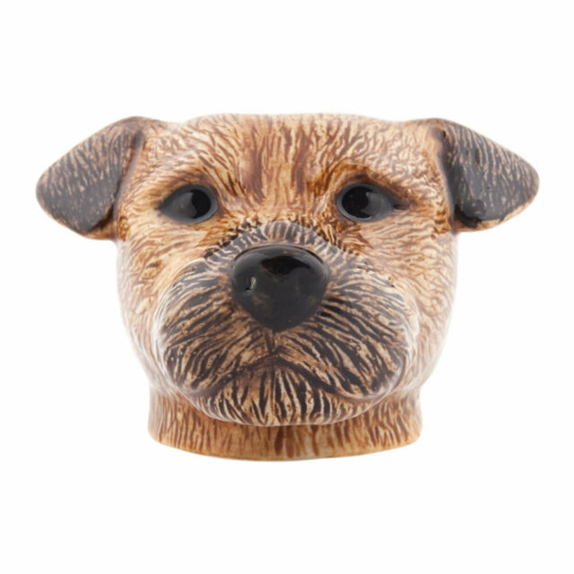 Tri Coloured by Quail ceramics CLEARANCE Jack Russell Face Egg Cup
