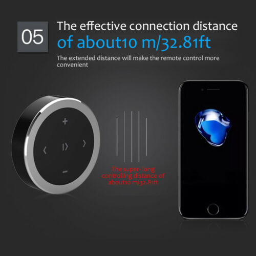 Bicycle Car Wireless Remote Control Bluetooth Media Button For Cell Phone iphone