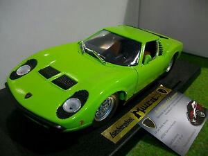 Lamborghini Miura Verte Echelle 1 18 Anson 61221 Voiture Miniature