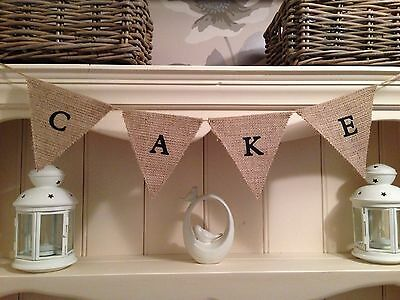 ❤️Wedding CAKE Hessian Bunting Vintage, Shabby Chic, Sign Decorations❤️