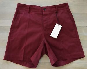 0d41f1d0910d1 550$ Gucci Wine Cotton Shorts Size US 36 Made in Italy | eBay