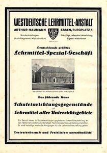 Lehrmittel-Haumann-Essen-XL-Reklame-1925-Werbung-Burgplatz
