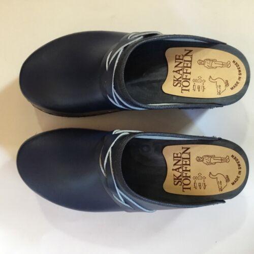 Details about  /Swedish Clogs Blue with a braid size 38 EU