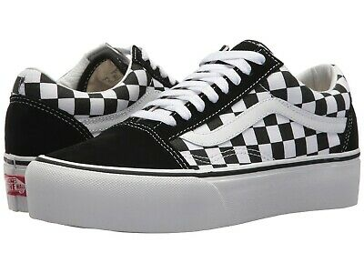 NEW Mens VANS OLD SKOOL PLATFORM SNEAKER Black White CHECKERBOARD CANVAS  Shoes | eBay
