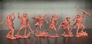 Publius TRAPPEURS Toy Soldiers Publius 1:32 brun-rouge
