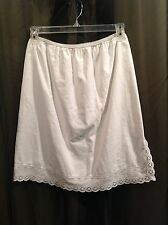 Vintage CAROL BRENT White Cotton Half Slip Women's Size Medium