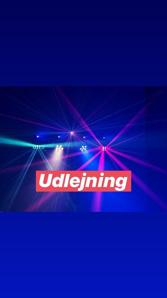 Udlejning Lys, diskolys | LED bar København, 24/7