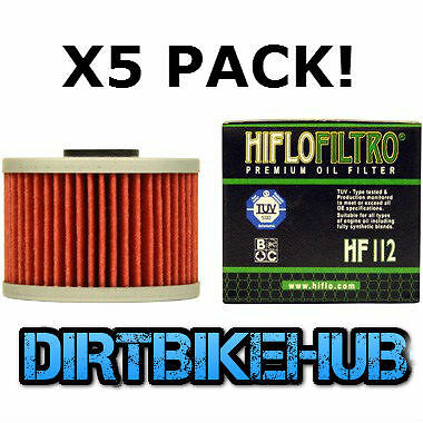 HIFLO HF112 OIL FILTERS x5 pack Kawasaki KXF 450 KXF450 06-15 MOTOCROSS Enduro