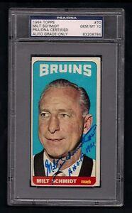 MILT-SCHMIDT-SIGNED-1964-TOPPS-CARD-70-PSA-DNA-Auto-GEM-MINT-10-BOSTON-BRUINS