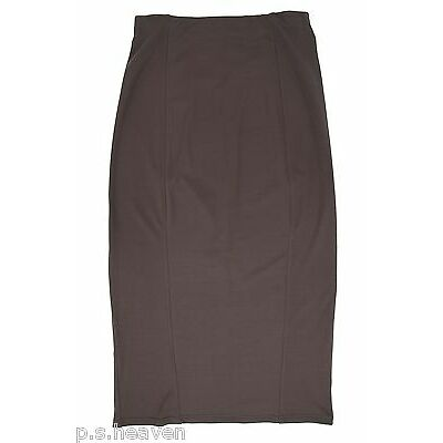 Womens Plus Size Long Stretch Pencil Skirt Ponteroma Blue Green Brown Rust