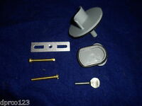 Tub Drain Overflow Face Plate Test Kit W/screws (2 Hole Or 1 Hole)