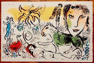 Marc Chagall Lithographie Originale Sur Velin D'arches 1973 Chagall Monumental