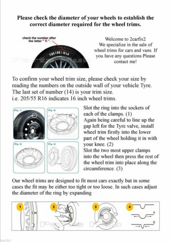 "Nissan Nota Estilo uno 15/"" rueda trim 455"