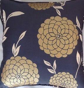 A 16 Inch cushion cover in Laura Ashley Erin Charcoal Silk Fabric