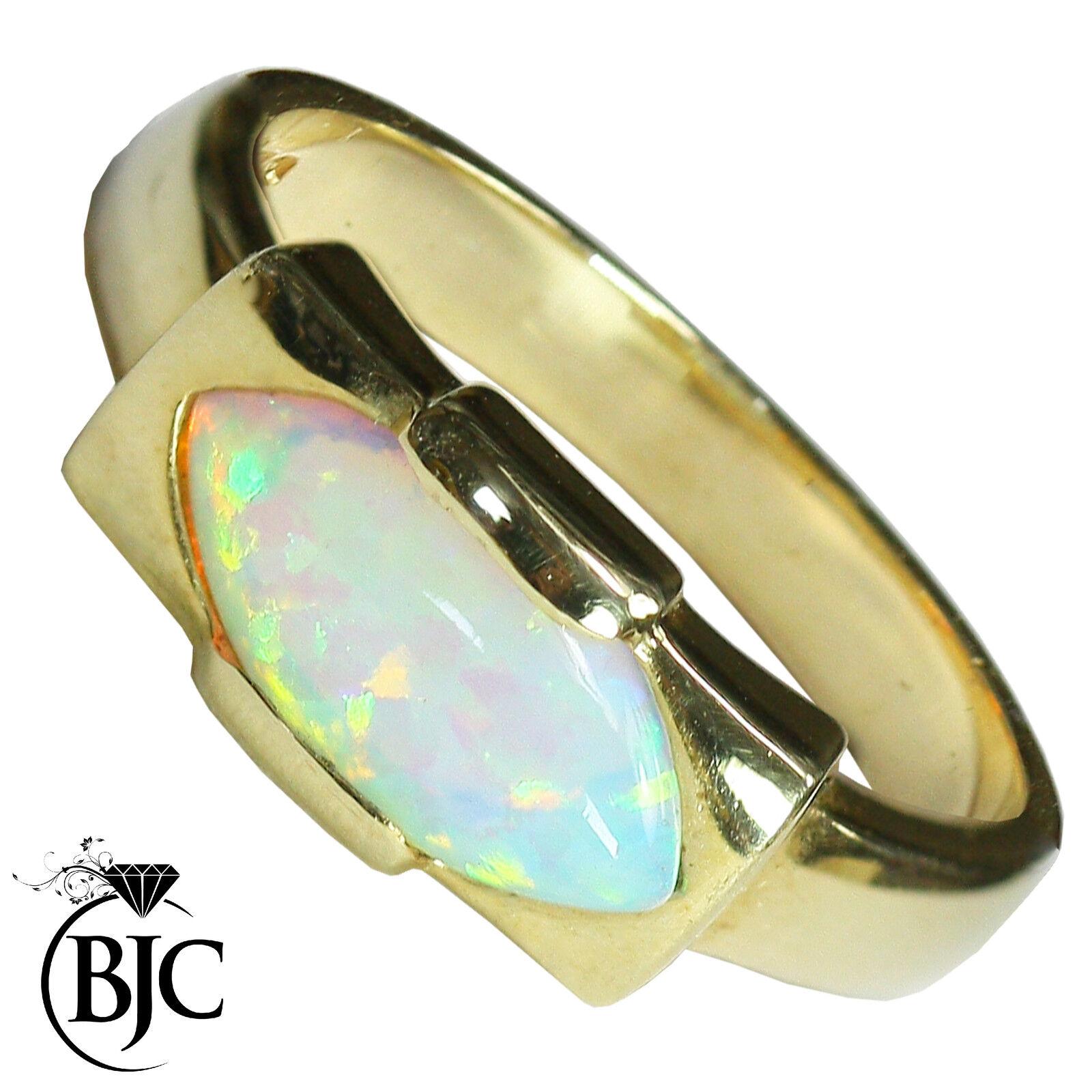 BJC 9 ct gold yellow Grande 2,00ct Ópalo Solitario size O vestido Marquesita