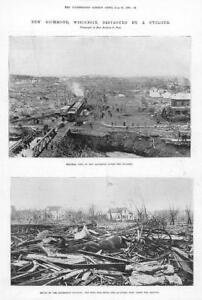 1899-Antique-Print-AMERICA-Wisconsin-New-Richmond-Cyclone-Ruins-Bell-250