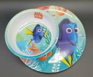 Brand-New-Licensed-Disney-Finding-Dory-Kids-Plate-And-Bowl-Melamine-Set
