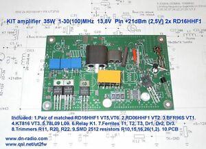 Amplifier 50W PEP 1-50(100)MHz 2x RD16HHF1 elecraft k2 k3 FT-817 kx3 transсeiver