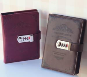 Retro Vintage Leder Gebunden Leere Seiten Journal Tagebuch Notizblock Notebook S PüNktliches Timing schwarz