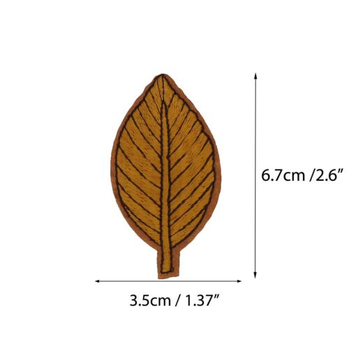 2-5X Leaves Embroidery Sew On Iron On Patch Badge Transfer Fabric Bag Clothes