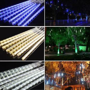 Details About 30 50cm Indoor Outdoor Snowing Xmas S Meteor Shower Icicle Strip Led Lights