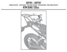 GIVI SR7701 TOP BOX RACK KTM Duke 390 2011 /> 2016 for MONOLOCK top box case