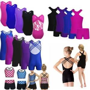 Kids-Gymnastics-Leotards-Ballet-Dance-Bodysuit-Girls-Gym-Jazz-Tank-Tops-Unitard