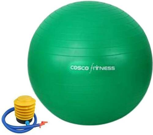 Exercise posture Ball Gym Yoga Workout by Cosco Antiburst 95 CM footpump back