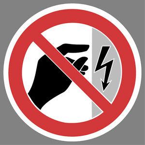 Achtung-unter-Spannung-anfassen-verboten-Aufkleber-Sticker-Hinweis-Verbotsschild