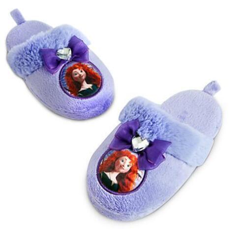 Disney Authentic BRAVE Princess Merida Girls Soft Slipper Shoes sz 9/10 Gift NEW