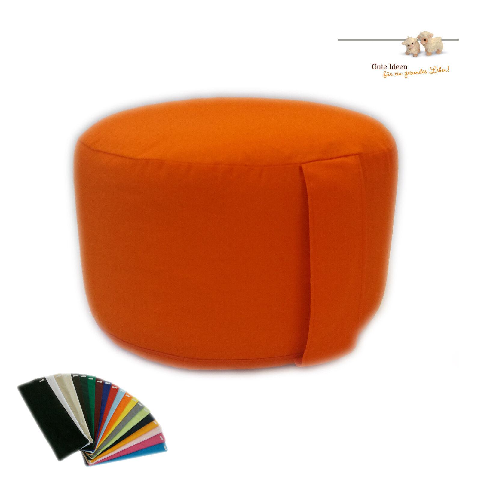 Yoga Pillow Meditation Cushion round Maxi Ø 35 Cm x 24cm H, Various colors