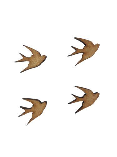 30x Swallow Bird 2cm Wood Craft Embelishments Laser Cut Shape MDF