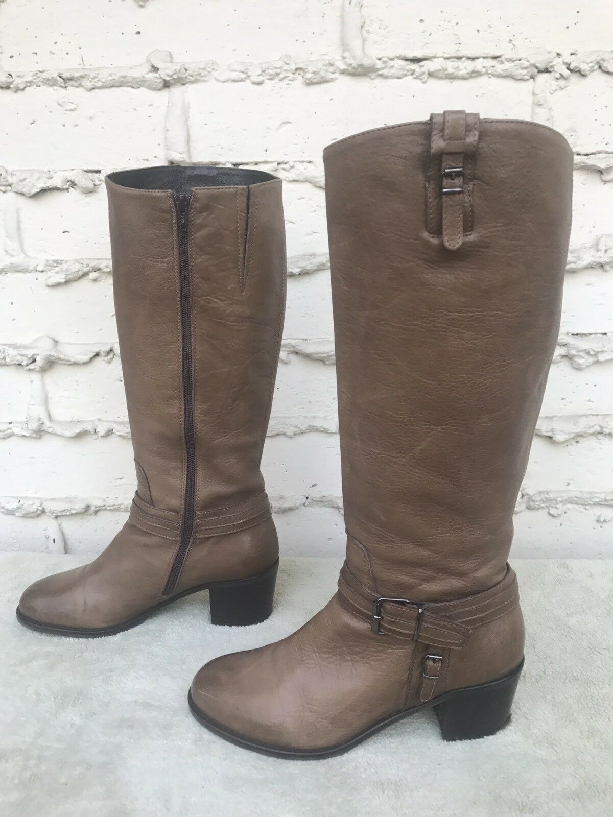 EUC Cordani Potter Women's Brown Leather Knee High Boots US 7.5 580