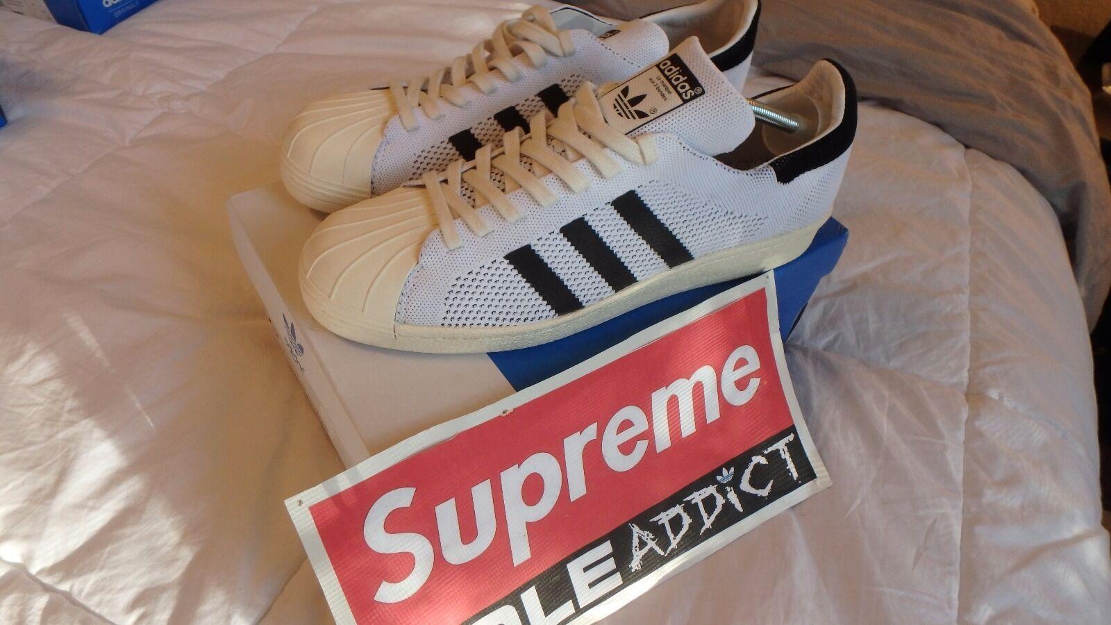 adidas - superstar der 80er - adidas jahre primeknit größe 11,5 kunst s82779 datum 07 / 15 af31d9