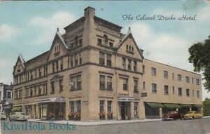 Image Is Loading Postcard Colonel Drake Hotel Usville Pa