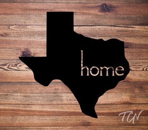 Texas Home Vinyl Decal StickerCar DecalTumbler DecalLaptop DecalUSA