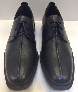 Cole-Haan-Men-10-M-Cain-Center-Seam-Ox-II-Oxfords-Black-Leather-Shoes-C12541